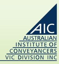 Australian Institute Of Conveyancers Vic Division INC